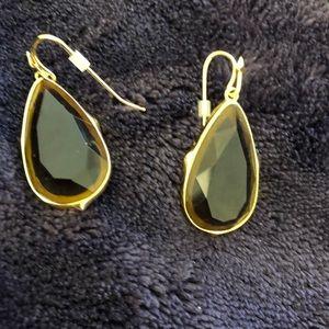Stella and Dot Brown Teardrop Earrings